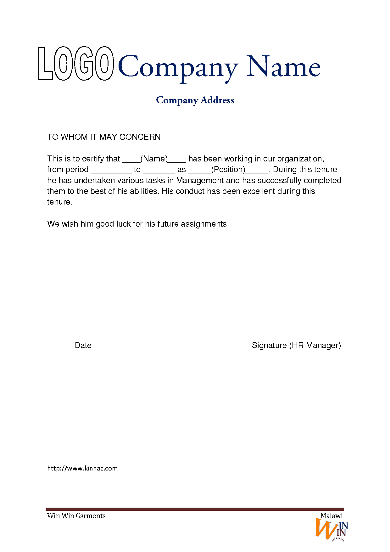 Cover letter for work experience template