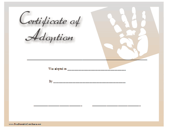 Adoption certificate template jeppefm adoption certificate template yadclub Gallery