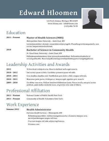 free template resume