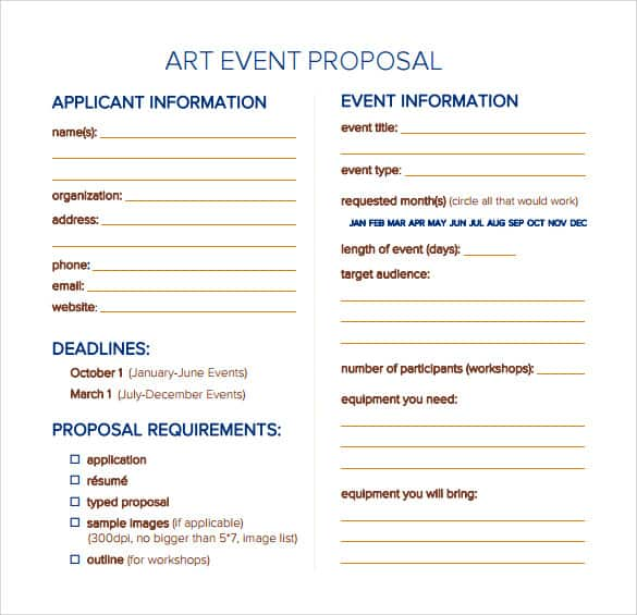 Doc690934 Proposal for Event Craft A Perfect Event Proposal – Event Planning Proposal Template