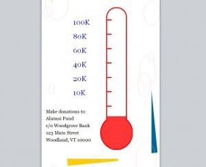 Fundraising goal thermometer template