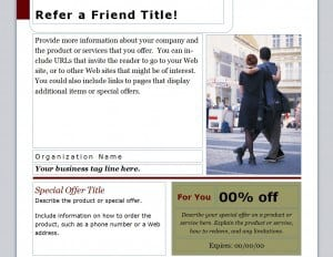 Refer a friend coupon template