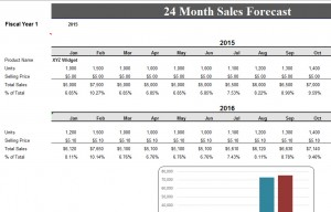 24 Month Sales Forecast Sheet Template