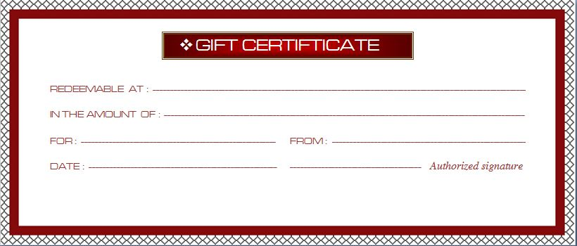 Business Gift Certificate Template 16941