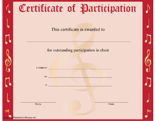 Certificate Of Participation Template image 85441