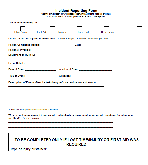 Incident Reports Template image