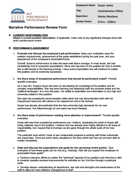 Employee Performance Review Form Template 9841