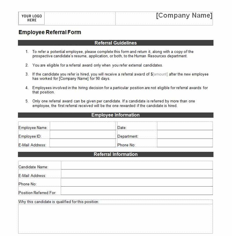 Employee Referral Form 111