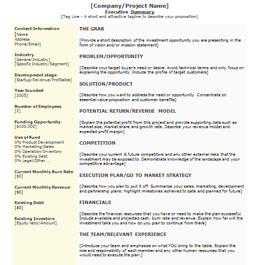 Proposal Executive Summary Template from www.sampletemplatespro.com