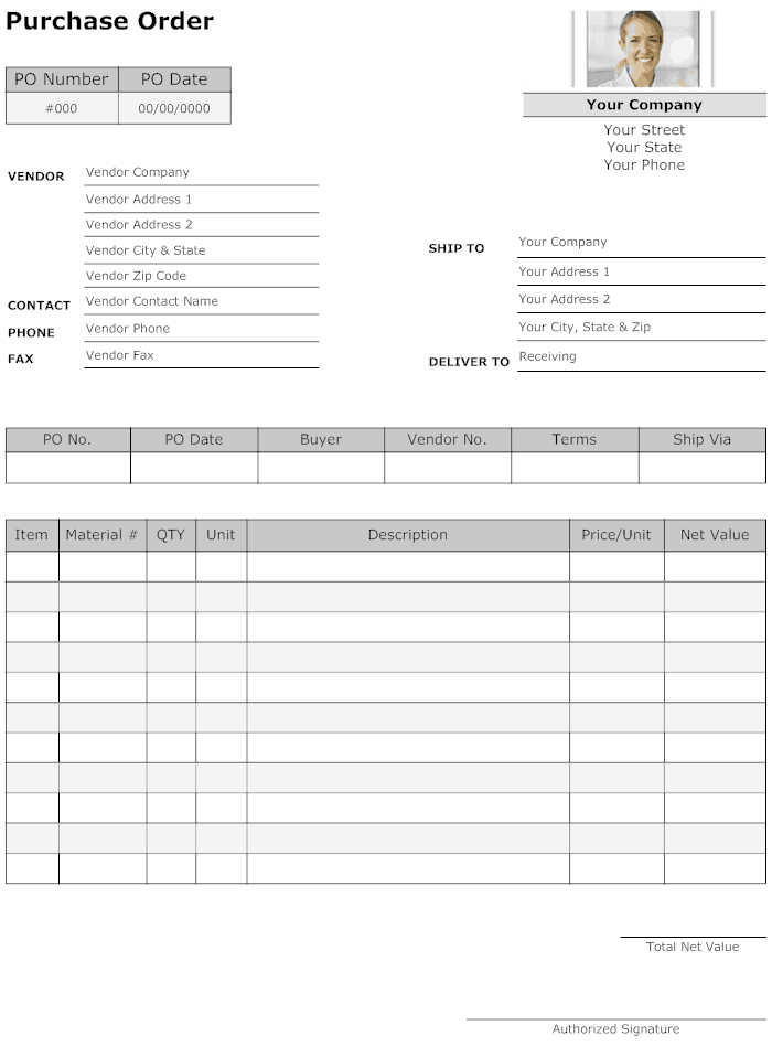 Purchase Order Form template 444