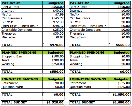 Semi Monthly Home Budget Sheet template 111