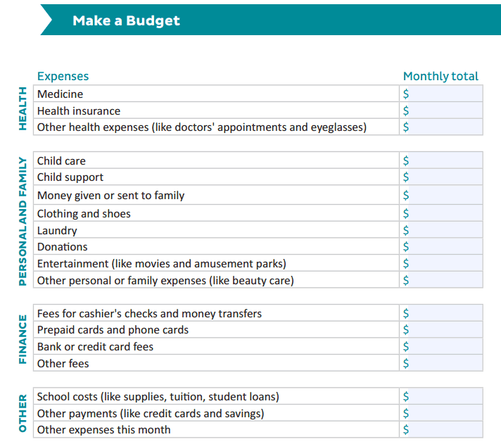 Household Monthly Budget Sheet Template 333