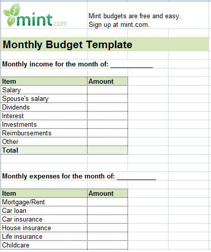 Personal Monthly Budget Sheet Template 222