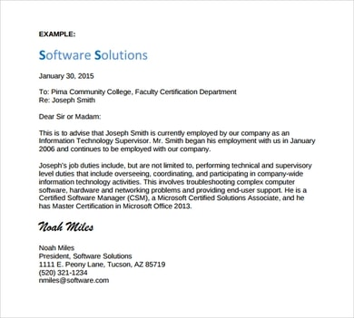 Employment Certificate Letter Sample from www.sampletemplatespro.com